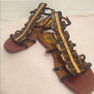 Fendi Roma Ava gladiator 6.5 sandals